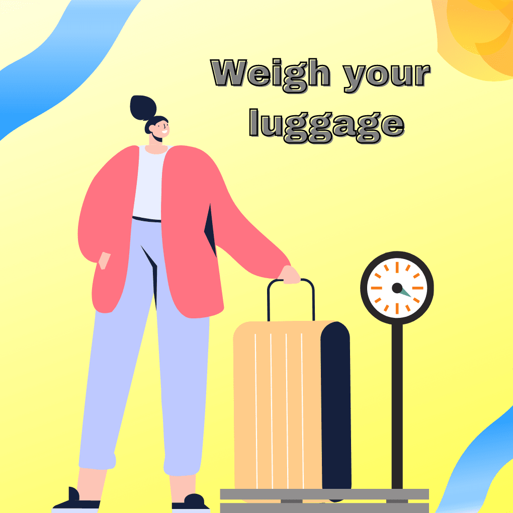 how to weigh luggage