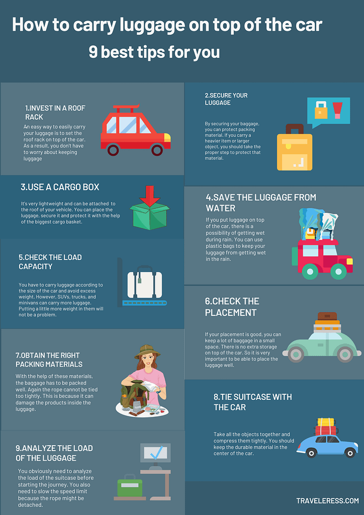 tips for carrying luggage on top of the car