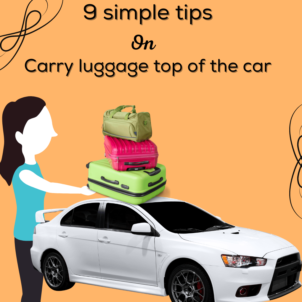 Carry luggage top of the car