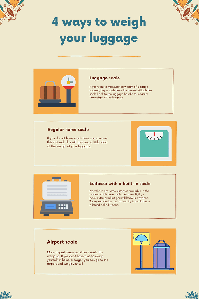 4 ways to weigh your luggage