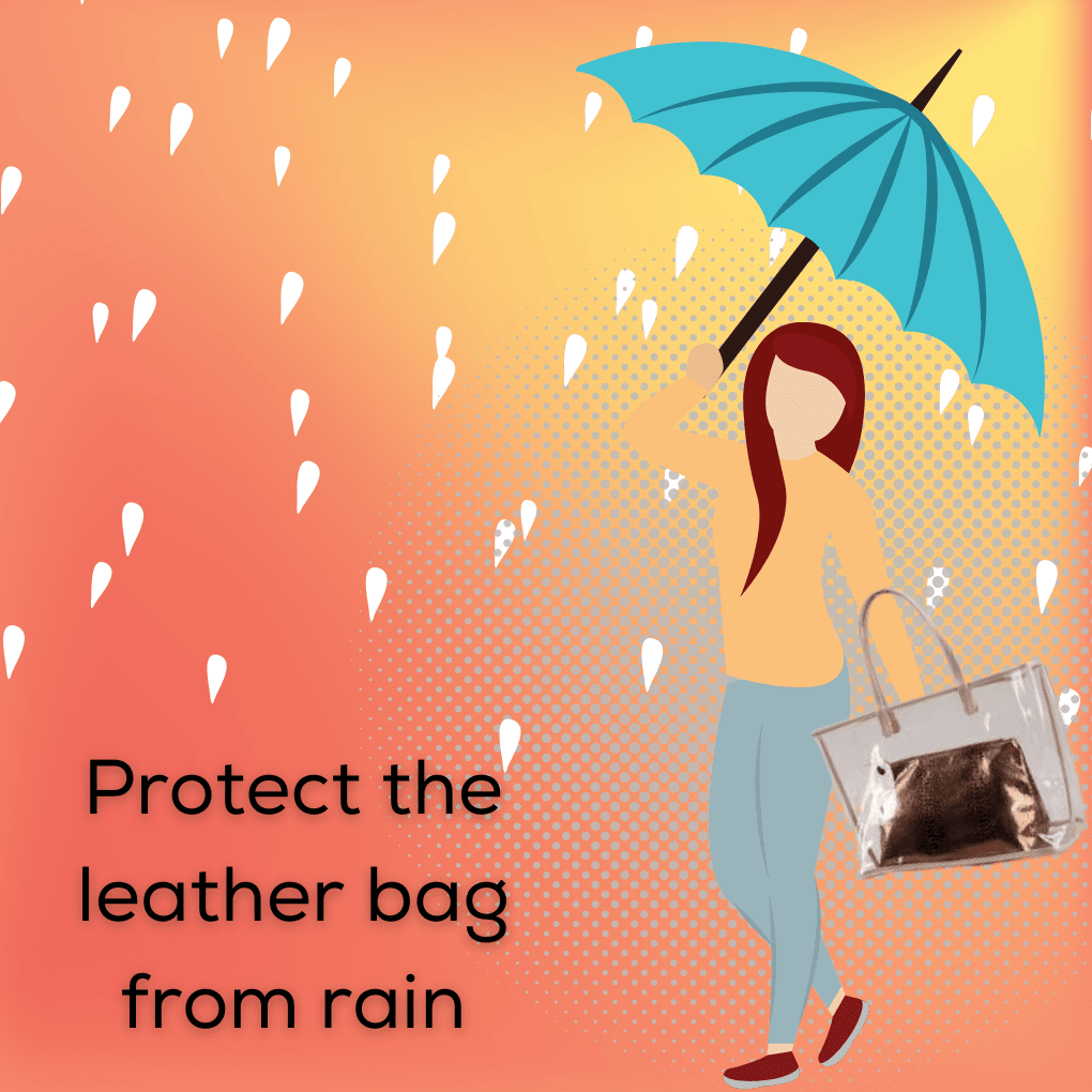 how to protect leather bag from rain