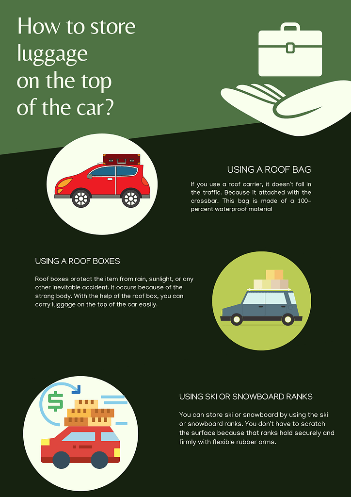 How to store luggage on the top of the car